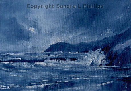 Moonlit Swell, Pendine