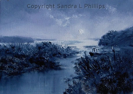 Moonlit Shore, Laugharne