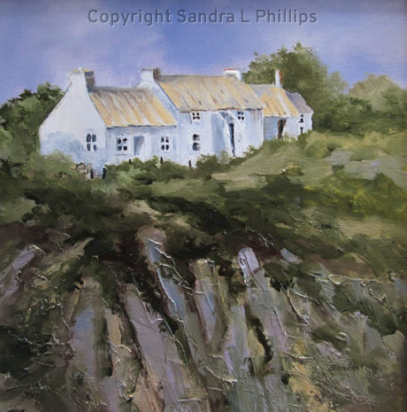 Cottage overlooking Porthclais Harbour