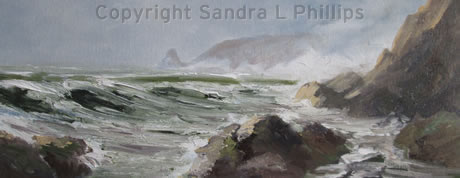 Stormy Seas, Druidston Bay